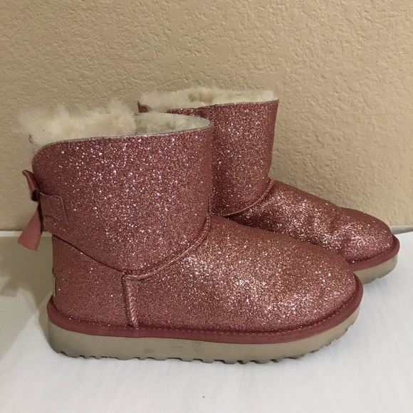 b4c864a89ce Ugg Mini Bailey Bow Sparkle Boot